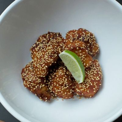 "<p>This ultra-crispy cauliflower, a.k.a. KFC, is a signature dish at Hong Kong's Yardbird. After being battered and fried, the cauliflower florets are tossed with a sweet and fiery sauce made with gochujang, the pepper paste that is a staple of Korean cooking.</p><p><b>Recipe: </b><a href=""/recipefinder/korean-style-fried-cauliflower-recipe-fw0313""><b>Korean-Style Fried Cauliflower</b></a></p>"