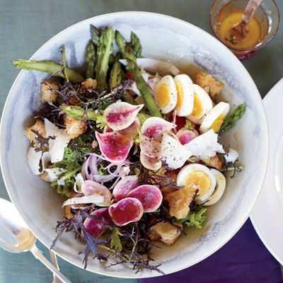 "<p>Recipes for panzanella (a Florentine bread salad popular in the summer) typically call for tomatoes, but in the spring, Mike Lata prefers using seasonal ingredients like asparagus and radishes.</p><p><b>Recipe: </b><a href=""/recipefinder/spring-panzanella-asparagus-recipe-fw0412"" target=""_blank""><b>Spring Panzanella with Asparagus</b></a></p>"