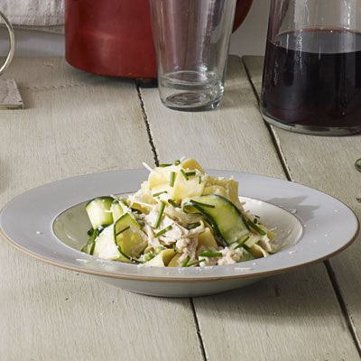 <p>Canned tuna doesn't have to mean sandwiches&#x3B; instead, toss it with ribbons of zucchini, pappardelle, and a lemony cream sauce.</p>