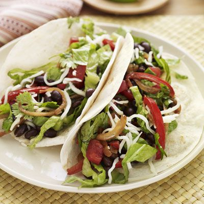 "Black beans make a hearty stand-in for ground beef in these vegetarian tacos — especially when they're gussied up with all your favorite toppings! <br /><br /> <b>Recipe:</b> <a href=""/recipefinder/vegetarian-tacos""target=""_new"">Vegetarian Tacos</a>"