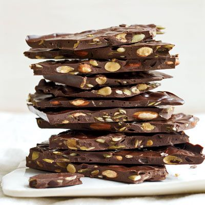 "<p>There's no need to spend a lot of money on fancy chocolate when it's so easy to make this deliciously rich dark chocolate bark at home.</p><p><b>Recipe: </b><a href=""/recipefinder/dark-chocolate-bark-roasted-almonds-seeds-recipe-fw0311"" target=""_blank""><b>Dark Chocolate Bark with Roasted Almonds and Seeds</b></a></p>"