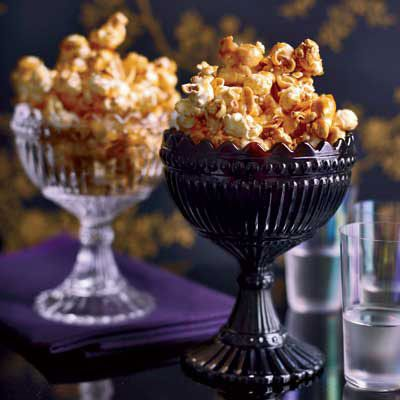 "<p>More suited to a cocktail party than a baseball game, this riff on Cracker Jack by Atlanta pastry chef Taria Camerino is sweetened with agave nectar and spiked with tequila. Slow baking turns the popcorn-nut mix fabulously crunchy.</p>  <p><b>Recipe:</b> <a href=""recipefinder/tequila-spiked-caramel-corn-recipe""> <b>Tequila Spiked Caramel Corn</b></a></p>"