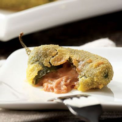 "<p>Spicy peppers get a cooldown from the creamy bean-and-cheese filling in our healthier version of jalapeño poppers. </p><br /> <p><b>Recipe: </b><a href=""/recipefinder/jalapeno-poppers-recipe"" target=""_blank""><b>Jalapeño Poppers</b></a></p>"