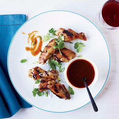 "<p>These super-flavorful crusty wings come from Adam Perry Lang, founder of NYC's Daisy May's BBQ and author of Charred & Scruffed. They are fantastic with or without Lang's sweet-and-sticky barbecue sauce.</p> <p><strong>Recipe:</strong> <a href=""http://www.delish.comrecipefinder/chicken-wings-molasses-barbecue-sauce-recipe-fw0612""><strong>Chicken Wings with Molasses Barbecue Sauce</strong></a></p>"