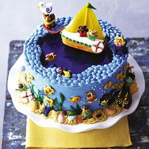 """<p>This cute natuically-themed cake is the perfect end to a beachy summer party or special meal. </p><p><b>Recipe:</b> <a href=""""/recipefinder/ship-ahoy-cake-122112""""><b>Ship Ahoy Cake</b></a></p>"""