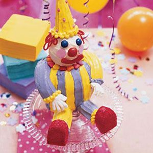 "<p>A silly, colorful clown cake will make any group of kids smile — try taking this cute cake for your child's next birthday party.</p><p><b>Recipe:</b> <a href=""/recipefinder/clown-cake-122103""><b>Clown Cake</b></a></p>"