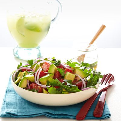 "<p>This cool, creamy, and slightly spicy avocado salad is a creative and healthy side, perfect to accompany smoky grilled eats.</p> <p><strong>Recipe:</strong> <a href=""http://www.delish.com/recipefinder/avocado-salad-lime-cumin-vinaigrette-recipe-ghk0712"" target=""_blank""><strong>Avocado Salad with Lime and Cumin Vinaigrette</strong></a></p>"