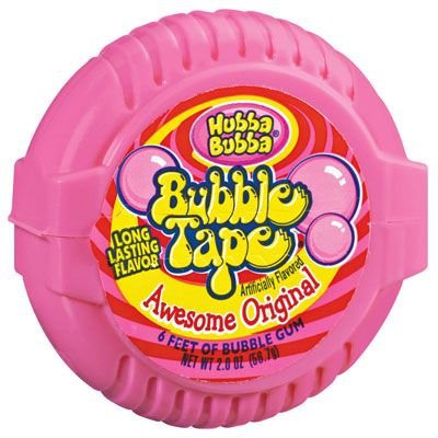 <b>Wrigley introduced its Bubble Tape product in the late 1980s, but the height of its popularity was in the 90s. Bubble tape was six feet of bubble gum wrapped in a spiral, encased in pink tape-dispenser-like shell. Bubble Tape was marketed exclusively to children, and all the kids wanted it, especially because it tasted...absolutely disgusting. But the six-feet factor made up for the yuck factor, until the 2000s at least. You can still find Bubble Tape in many stores today, but you don't see any advertisements for it. </b>