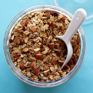 "<p>This easy granola is all-purpose: Pair it with yogurt for breakfast in the morning, nibble on it alone as a midday office snack or spoon it over vanilla ice cream and cooked fruit for dessert.</p> <p><strong>Recipe:</strong> <a href=""../../../recipefinder/crunchy-almond-granola-recipe-122783"" target=""_blank""><strong>Crunchy Almond Granola</strong></a></p>"