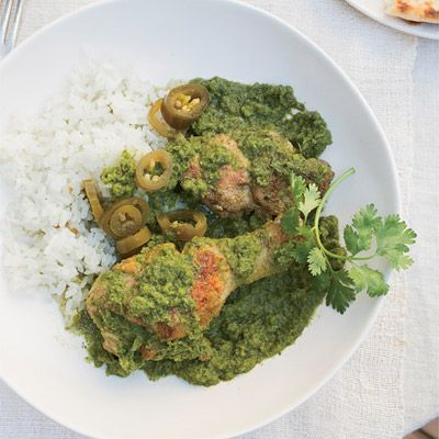 "<p>One of Grace Parisi's favorite tricks for cooking chicken drumsticks: Slice the meat to the bone before braising to help them cook more quickly. Skinless, boneless thighs also work well in this vibrant, herb-packed stew.</p><p><b>Recipe: </b><a href=""/recipefinder/braised-chicken-cilantro-mint-chiles-recipe-fw1112"" target=""_blank""><b>Braised Chicken with Cilantro, Mint, and Chiles</b></a></p>"