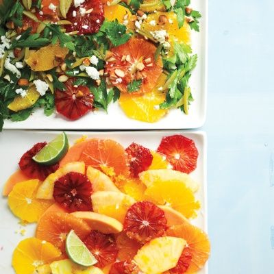 """<p>A refreshing way to enjoy ripe and juicy oranges.</p> <p><strong>Recipe:</strong> <a href=""""http://www.delish.com/recipefinder/orange-parsley-salad-recipe-mslo1013""""><strong>Orange and Parsley Salad</strong></a></p>"""