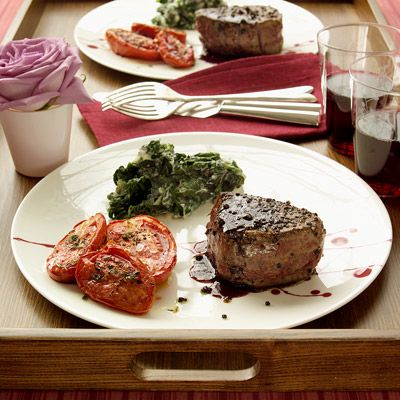 "<p>This luxurious cut of beef doesn't require much dressing up in the kitchen. Seasoned simply with salt and coarsely ground pepper, this steak is pan-seared to perfection.</p> <p><strong>Recipe:</strong> <a href=""../../../recipefinder/pepper-crusted-filet-mignon-recipe"" target=""_blank""><strong>Pepper-Crusted Filet Mignon</strong></a></p>"