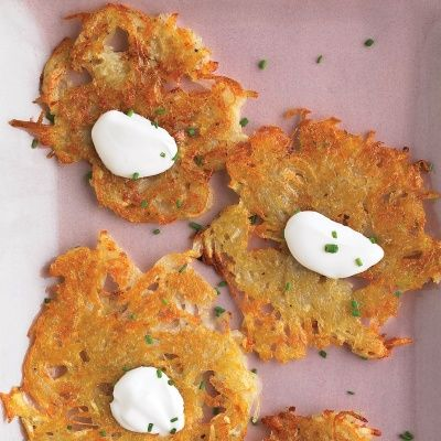 "<p>Eastern Europeans certainly got comfort food right, and these crispy potato pancakes are no exception. For a quick, warming dinner, add a dollop of sour cream and serve hot.</p> <p><strong>Recipe:</strong> <a href=""../../../recipefinder/potato-pancakes-recipe-mslo1212"" target=""_blank""><strong>Potato Pancakes</strong></a></p>"