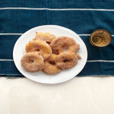 "<p>Try a seasonal twist on Hanukkah's fried food tradition with these indulgent apple fritter.</p><p><b>Recipe: </b><a href=""http://www.delish.com/recipefinder/apple-fritter-rings-recipe-mslo1212"" target=""_blank""><b>Apple Fritter Rings</b></a></p>"