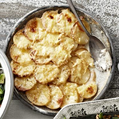 "<p>In this decadent casserole, aged Gouda and a silky onion-and-garlic cream sauce elevate earthy layers of Yukon gold potatoes and celery root.</p><p><b>Recipe:</b> <a href=""/recipefinder/potato-celery-root-gratin-recipe-clv0211"" target=""_blank""><b>Potato and Celery-Root Gratin with Gouda</b></a></p>"