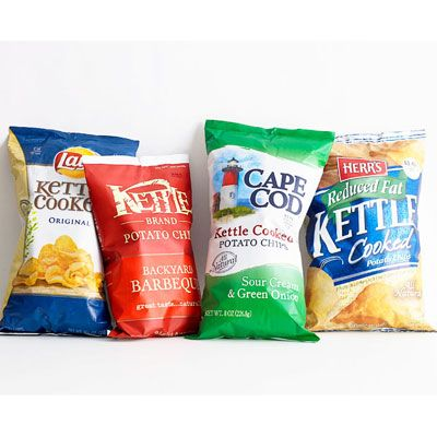 <p>Looking for more ways to use America's favorite snack food? Go beyond the bowl and add potato chips to these savory and sweet foods for added crunch and flavor. Then, keep clicking through to spice up snack time with 8 exciting options<strong>.</strong></p> <p><strong>Hot 'n' Cheesy Chips</strong>: Spread 5 oz (4 cups) plain chips on a foil-lined baking sheet. Sprinkle with ½ tsp Cajun seasoning and ½ cup grated Cheddar and bake at 400°F for 5 minutes.</p> <p><strong>Crispy Chicken Strips</strong>: Coat chicken tenders (or boneless, skinless chicken breasts cut lengthwise into thirds) in crushed potato chips (use barbecue or jalapeño for zing), pressing gently to help them adhere. Bake at 400°F until cooked through, 12 to 15 minutes.</p> <p><strong>Crunchy Mac 'n' Cheese</strong>: Crush 1 cup potato chips, then toss with 2 scallions (finely chopped) and 2 Tbsp chopped parsley. Sprinkle over mac 'n' cheese and bake for 20 minutes.</p> <p><strong>Chocolate Treats</strong>: Sprinkle crushed plain chips over chocolate fudge before it sets or over chocolate brownies before they go in the oven.</p>