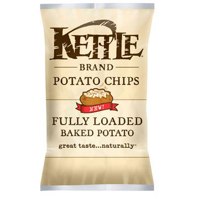"<p>Subtle hints of bacon, sour cream, and chives give this chip a classic baked potato taste. <a href=""http://www.amazon.com/Kettle-Brand-Fully-Loaded-Potato/dp/B005QOLPK4"" target=""_blank""><em>Amazon.com</em></a></p>"