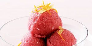 """<p>This lovely deep pink sorbet makes a refreshingly elegant meal-ender.</p><p><b>Recipe:</b> <a href=""""/recipefinder/pomegranate-sorbet-121270""""><b>Pomegranate Sorbet</b></a></p>"""