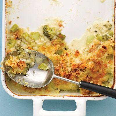"<p>Broccoli casserole by another name, this simple variation is topped with fresh bread crumbs and plenty of tangy white Cheddar cheese.</p><br /><p><b>Recipe:</b> <a href=""/recipefinder/broccoli-gratin-recipe-mslo1210"" target=""_blank""><b>Broccoli Gratin</b></a></p>"