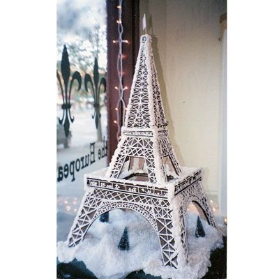 """<p>Marilyn Pollack Naron is a baker with a vision. The author of the blog <a href=""""http://simmertilldone.com/"""" target=""""_blank"""">simmer till done</a> created this beautifully impressive gingerbread Eiffel Tower for a friend to showcase in her store window. Needless to say, it attracted tons of camera-weilding customers.</p>"""