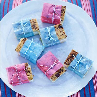"""<p>""""Ice cream sandwiches are universally popular, and everyone loves peach ice cream, too,"""" Linton Hopkins says. """"To make this recipe really Southern, we use pecans in the crispy cookie.""""</p><p><b>Recipe:</b> <a href=""""/recipefinder/butter-pecan-cookie-peach-ice-cream-sandwiches-recipe-fw0712"""" target=""""_blank""""><b>Butter Pecan Cookie and Peach Ice Cream Sandwiches</b></a></p>"""