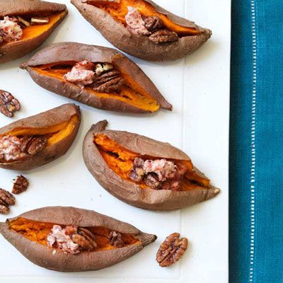"<p>These yams are served with a slather of Bing cherry-spiked butter and a sprinkling of spiced pecans.</p> <p><strong>Recipe:</strong> <a href=""../../../recipefinder/yams-bing-cherry-butter-recipe-rbk1112"" target=""_blank""><strong>Yams with Bing Cherry Butter</strong></a></p>"