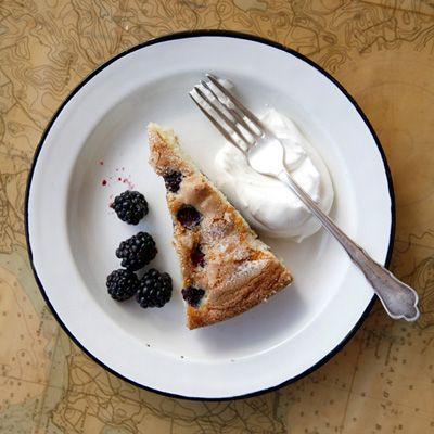 """<p>Light and moist, with an irresistible crispy top, this blackberry-studded buttermilk cake takes just 20 minutes to prep.</p> <p><strong>Recipe:</strong> <a href=""""http://www.delish.com/recipefinder/buttermilk-cake-blackberries-recipe-fw0712"""" target=""""_blank""""><strong>Buttermilk Cake with Blackberries</strong></a></p>"""