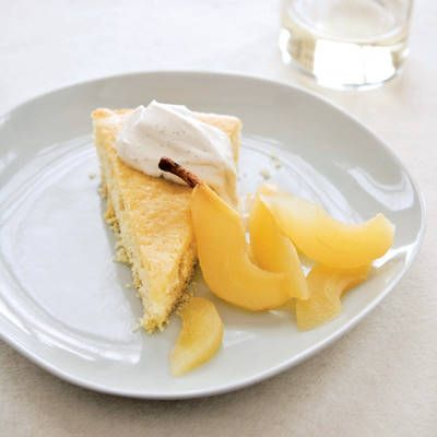 "<p>This dessert is divine in its simplicity. Rich, tangy buttermilk makes the cake deliciously moist, and a splash of vanilla throughout.</p> <p><strong>Recipe:</strong> <a href=""../../../recipefinder/buttermilk-cake-riesling-poached-pears-recipe-fw0211"" target=""_blank""><strong>Buttermilk Cake with Riesling-Poached Pears</strong></a></p>"