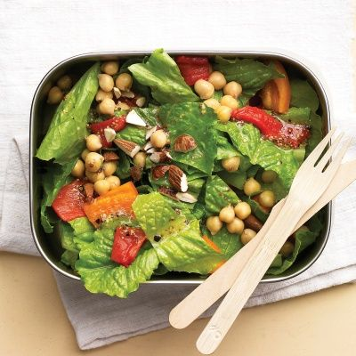 """<p>This colorful chopped salad is easy to make and filling because of the protein from the chickpeas and almonds.</p> <p><br/><strong>Recipe:</strong> <a href=""""../../../recipefinder/mediterranean-chopped-salad-recipe-mslo0812"""" target=""""_blank""""><strong>Mediterranean Chopped Salad</strong></a></p>"""