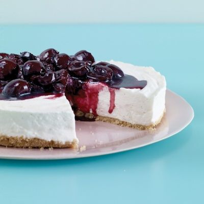 "<p>Three cheeses in the filling make this easy cheesecake ultrarich and super creamy.</p> <p><strong>Recipe:</strong> <a href=""http://www.delish.com/recipefinder/no-bake-cherry-cheesecake-recipe-mslo0713"" target=""_blank""><strong>No-Bake Cherry Cheesecake</strong></a></p>"