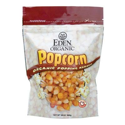 <p>All you have to do is think of the first time your parents dropped you off at the movies, and you'll be craving popcorn — which is a great low-calorie snack if it's not doused in butter and salt. Eden Organic's healthier version has 1 gram of fat and 5 grams of fiber, which makes it a great addition to any movie night. EdenFoods.com</p>