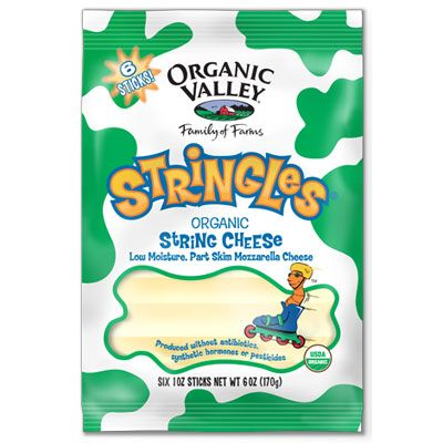 <p>Ah, the joys of peeling apart your cheese—some childhood wonders never cease. If you've still got a hankering for string cheese, try this version made by Organic Valley. One stick contains 7 grams of protein and only 80 calories. OrganicValley.coop</p>