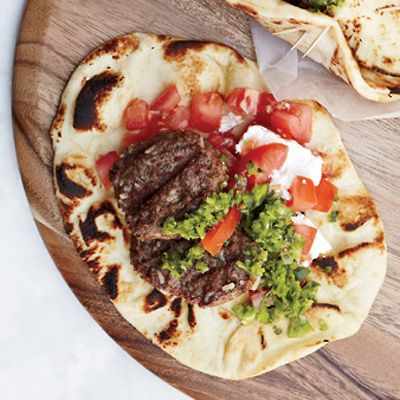 "<p>Harissa, a staple in Tunisian and Moroccan cooking, ordinarily contains dried red chiles. Grace Parisi makes her green version with Anaheim and serrano chiles to add bright flavor to grilled lamb burgers. </p><p><b>Recipe:</b> <a href=""/recipefinder/lamb-burgers-green-harissa-recipe-fw0912 ""><b>Lamb Burgers with Green Harissa </b></a></p>"