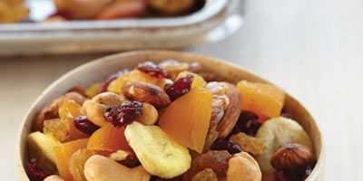 This quick and hassle-free recipe makes a satisfying snack that's healthy, too.   Recipe: Fruit-and-Nut Trail Mix