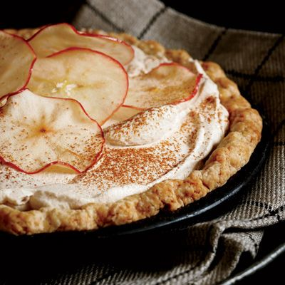 In 2009, Allison Kave and her boyfriend, Jay Horton, were winners in Brooklyn, New York's Pie Bake-Off with this clever pie. The challenge was to use a local ingredient, so they chose apple cider and developed this delicious combination of cream pie and apple pie. Winning the contest was the impetus for Kave to open First Prize Pies in Brooklyn.