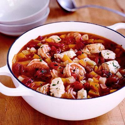 "<p>This simple seafood stew is laden with fresh shrimp and cod, and features a savory tomato broth spiced up with Cajun seasoning.</p> <p><strong>Recipe:</strong> <a href=""../../../recipefinder/fishermans-stew-2651"" target=""_blank""><strong>Fisherman's Stew</strong></a></p>"
