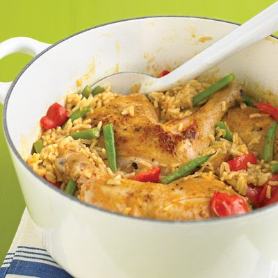 """<p>Settle in for the night with this cozy, Thai-style meal that gets to the table quickly and gets cleaned up even faster.</p><br /><p><b>Recipe:</b> <a href=""""/recipefinder/spicy-coconut-chicken-casserole-recipe-mslo0910"""" target=""""_blank""""><b>Spicy Coconut Chicken Casserole</b></a></p>"""
