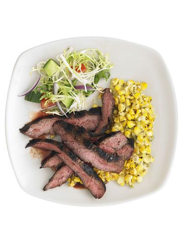 """<p>Yes — it's a steak night! Don't wait for a special occasion. A little chipotle chile powder adds a kick of spice to juicy skirt steak.</p><p><b>Recipe: <a href=""""http://www.delish.com/recipefinder/chipotle-steak-charred-creamy-corn-recipe-rbk0511?click=recipe_sr"""" target=""""_blank"""">Chipotle Steak With Charred Creamy Corn</a></b></p>"""