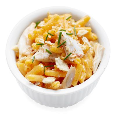"<p>Shake up the classic mac 'n' cheese with this gourmet crabmeat- and chive-stuffed version.</p> <p><b>Recipe: <a href=""http://www.delish.com/recipefinder/chesapeake-bay-mac-n-cheese-recipe-ghk1013"" target=""_blank"">Chesapeake Bay Mac 'n' Cheese </a></b></p>"