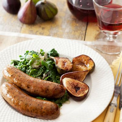 Maple-Glazed Sausages and Figs