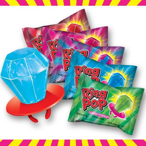 <p>Ring Pops might have the been the candy answer to the popularity of the board game Pretty Pretty Princess. If so, it was a serious upgrade — a ring pop makes for a pretty impressive rock.</p>