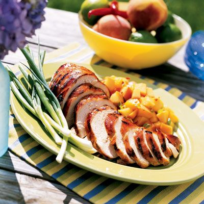"""<p>California is known for its pleasant weather, and what does nice weather necessitate? Grilling, of course! So sun-drenched Californians have been inspired to trot their turkeys to the grill. While grilling a turkey isn't traditional per se, a smoky bird is definitely flavorful.</p> <p><strong>Recipe:</strong> <a href=""""../../../recipefinder/spiced-grilled-turkey-breast-1223"""" target=""""_blank""""><strong>Spiced Grilled Turkey Breast</strong></a></p>"""