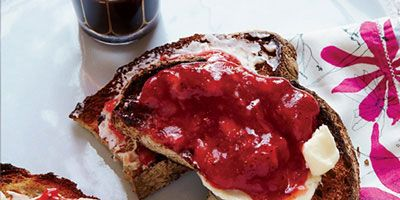 """<p>Made with instant pectin, this gingery strawberry jam from F&W's Justin Chapple is amazingly fresh-tasting. Instead of canning the jam in hot water, store it in a freezer to maintain its just-picked flavor. </p> <p><strong>Recipe:</strong> <a href=""""http://www.delish.com/recipefinder/no-cook-strawberry-jam-recipe-fw0813"""" target=""""_blank""""><strong>No-Cook Strawberry Jam</strong></a></p>"""