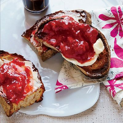 "<p>Made with instant pectin, this gingery strawberry jam from F&W's Justin Chapple is amazingly fresh-tasting. Instead of canning the jam in hot water, store it in a freezer to maintain its just-picked flavor. </p> <p><strong>Recipe:</strong> <a href=""http://www.delish.com/recipefinder/no-cook-strawberry-jam-recipe-fw0813"" target=""_blank""><strong>No-Cook Strawberry Jam</strong></a></p>"