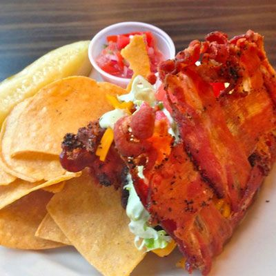 "<p>Did you think that the bacon trend might finally wane in 2013? Think again. Taking a page from Taco Bell's book (remember Doritos Locos Tacos?), a restaurant in Philadelphia constructed a taco shell out of an unorthodox food: bacon.</p>  <p><a href=""/food/recalls-reviews/restaurant-selling-bacon-taco-shells""><b>Read the Whole Story</b></a></p>"
