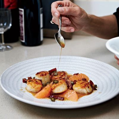 "<p>A tangy, buttery white wine and grapefruit sauce with smoky bacon is the perfect accompaniment to sweet sea scallops.</p><p><b>Recipe: </b><a href=""/recipefinder/scallops-grapefruit-bacon-recipe-fw1012"" target=""_blank""><b>Scallops with Grapefruit and Bacon</b></a></p>"