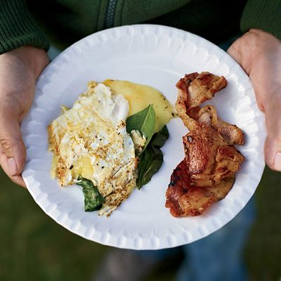 """<p>""""I've been making a version of our 'hangover breakfast' since before I was old enough to drink,"""" says Mark Canlis, co-owner of Seattle's Canlis restaurant. He adds a little whisky to the bacon, along with brown sugar, to caramelize and flavor it. In Scotland, they use """"rashers,"""" or ham-like Canadian bacon.</p><p><b>Recipe: </b><a href=""""/recipefinder/three-egg-omelets-whisky-bacon-recipe-fw0912""""><b>Three-Egg Omelets with Whisky Bacon</b></a></p>"""
