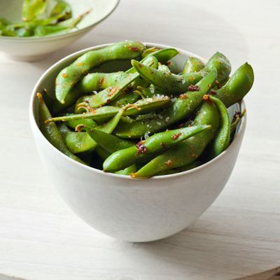 "<p>Just because you're making Mexican doesn't mean  you can't incorporate edamame! Instead of pairing soybeans with the usual Asian flavors, this recipe calls for chipotle chiles and cumin, which add a smoky flavor.</p><p><b>Recipe: </b><a href=""http://www.delish.com/recipefinder/chipotle-garlic-edamame-recipe-fw0312""><b>Chipotle-Garlic Edamame</b></a></p>"