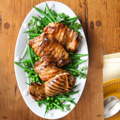 "<p>Try...Maple-Glazed Chicken<br /><br />This riff on grilled, soy-sauced teriyaki is still Asian-inspired, but there's pure maple syrup in the marinade — a surprise switch that enhances the flavors. Honey will also do the trick. </p> <p><strong>Recipe:</strong> <a href=""../../../recipefinder/broiled-salmon-spinach-feta-saute-recipe-mslo0612"" target=""_blank""><strong>Maple-Glazed Chicken</strong></a></p>"