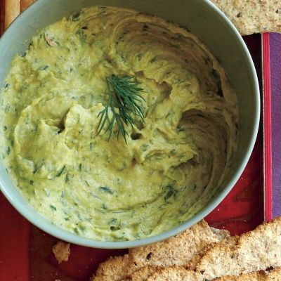 """<p>This year, revamp party food with recipes that make it easy to have the gang over and keep your resolutions intact. Jazz up purchased hummus with a combination of fresh herbs that add bright flavor to this green dip.</p><p><b>Recipe:</b> <a href=""""/recipefinder/herbed-hummus-recipe-mslo1112"""" target=""""_blank""""><b>Herbed Hummus</b></a></p>"""